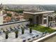 Clases de yoga en la terraza del hotel Emperador, Madrid. España