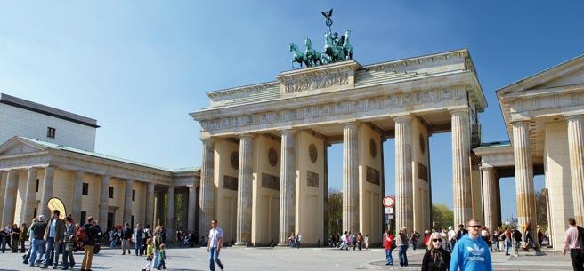 Puerta de Brandenburgo, en Berlín.
