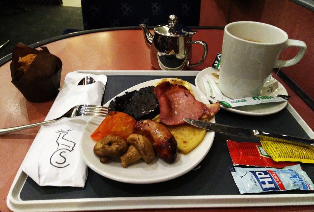 desayuno full highland breakfast Caledonian Sleeper