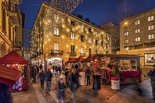 Mercadillo navideño de Lugano (Suiza)