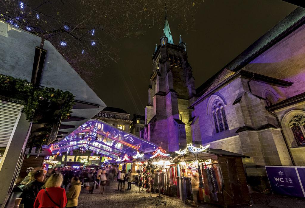 Mercadillo navideño de Lausanne (Suiza)