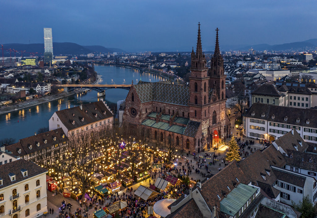 Mercadillo navideño de Basilea (Suiza)
