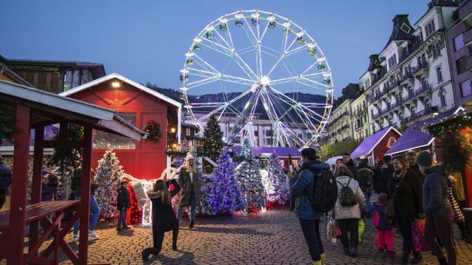 Mercadillo navideño en Suiza