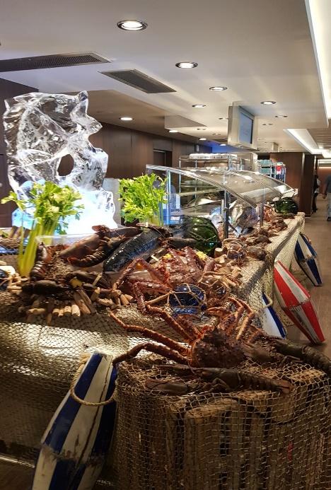 Buffet con marisco