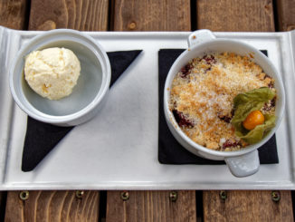 Blackberry y Apple Crumble