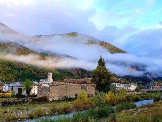 Amanece en Biescas (Huesca, Aragón)