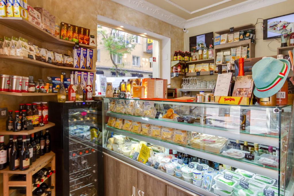 Mercado gourmet de Just Italia en Madrid