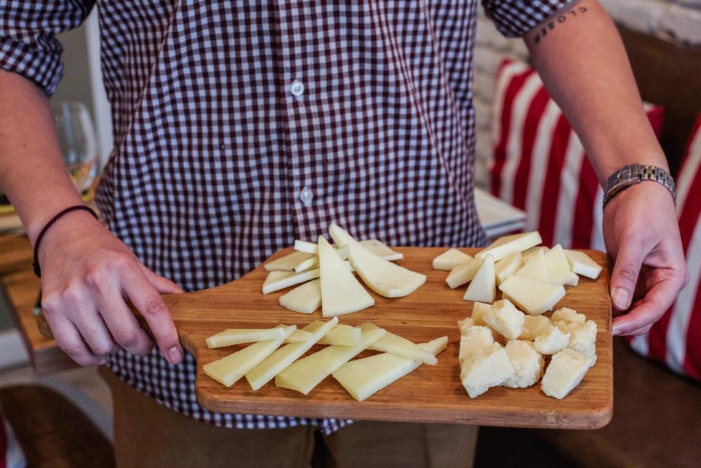 Tabla de quesos en Just Italia