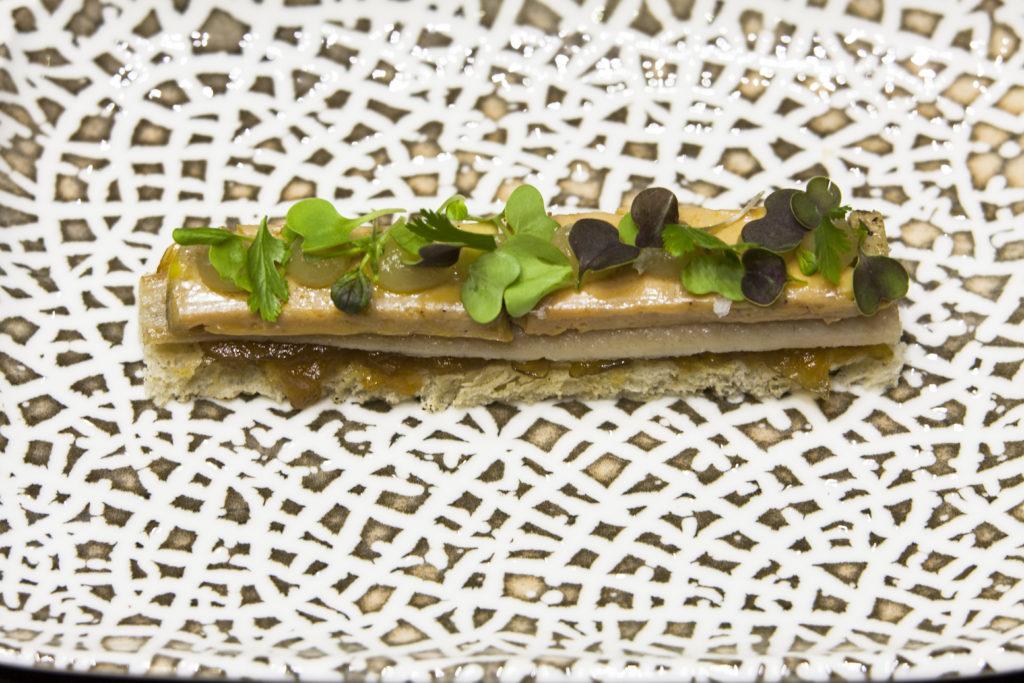 Milhoja anguila y foie 1